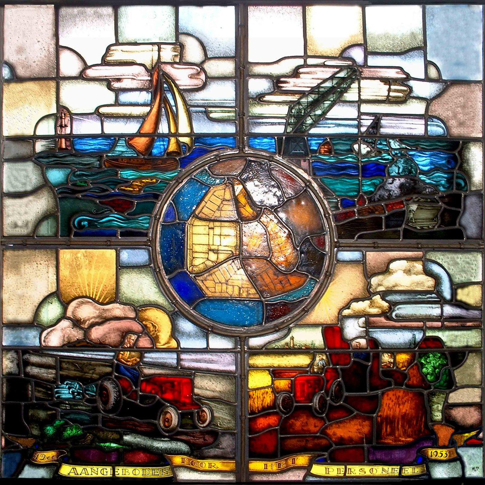 Glas in Lood gebrandschilderd glas raam Gorter Emmeloord